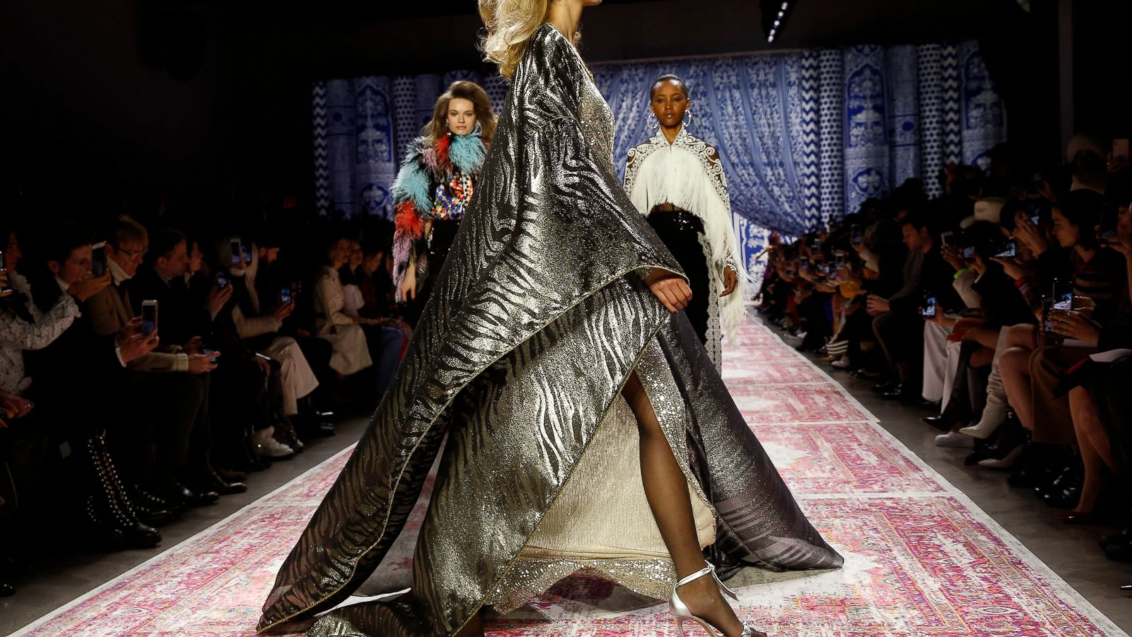 09c6ab9ee68 Naeem Khan has brought  70s glam back to New York Fashion Week with the  help of a few models of the time.