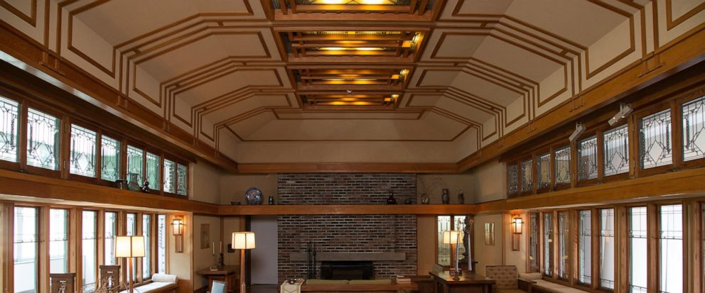 This photo provided by The Metropolitan Museum of Art shows the Frank Lloyd Wright Room located in The American Wing at the museum in New York. The room was originally the living room of the summer residence of Frances W. Little, designed and built b