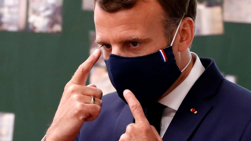France's Macron makes mask-wearing an act of national pride