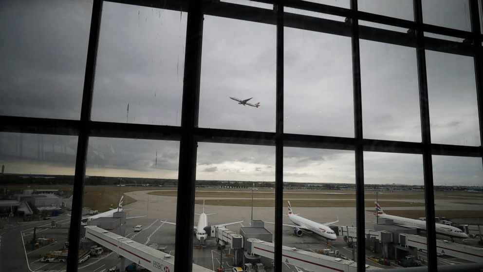 London police arrest 5 over planned Heathrow drone protest