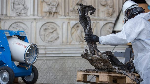 New threat to fire-damaged Notre Dame Cathedral: Heat wave