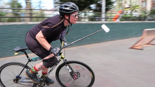 Bike polo and the retired 'vampire' who loves the game