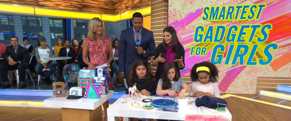 "PHOTO: Heather Cabot, the author of ""Geek Girl Rising"" discusses some high-tech toys and gadgets for girls live on ""GMA."""