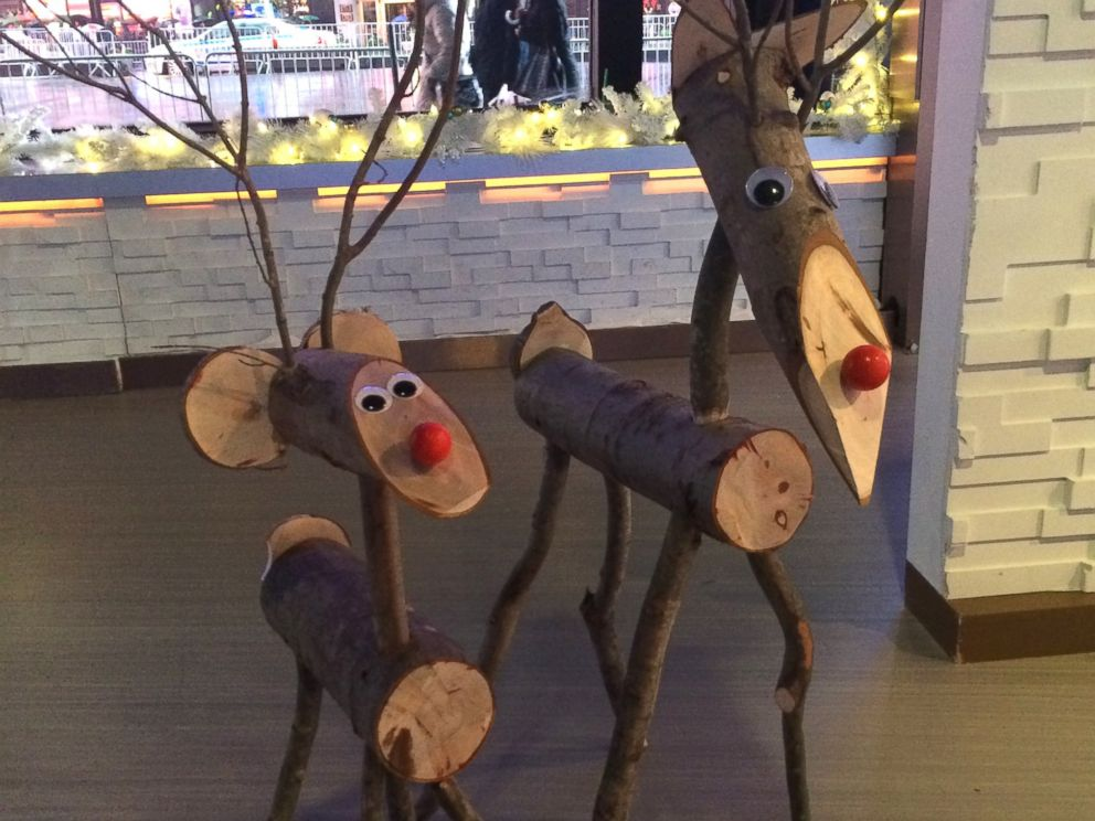 PHOTO: Deck the halls this season with DIY crafts like these log reindeer.