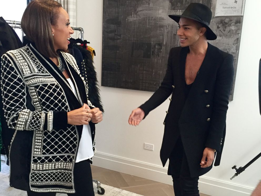 0d7894ecd19 PHOTO: Balmain creative director Olivier Rousteing spoke to ABC News Mara  Schiavocampo about his much