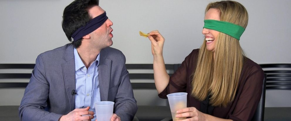 PHOTO: ABC News employees put holiday-flavored Pringles to the test.
