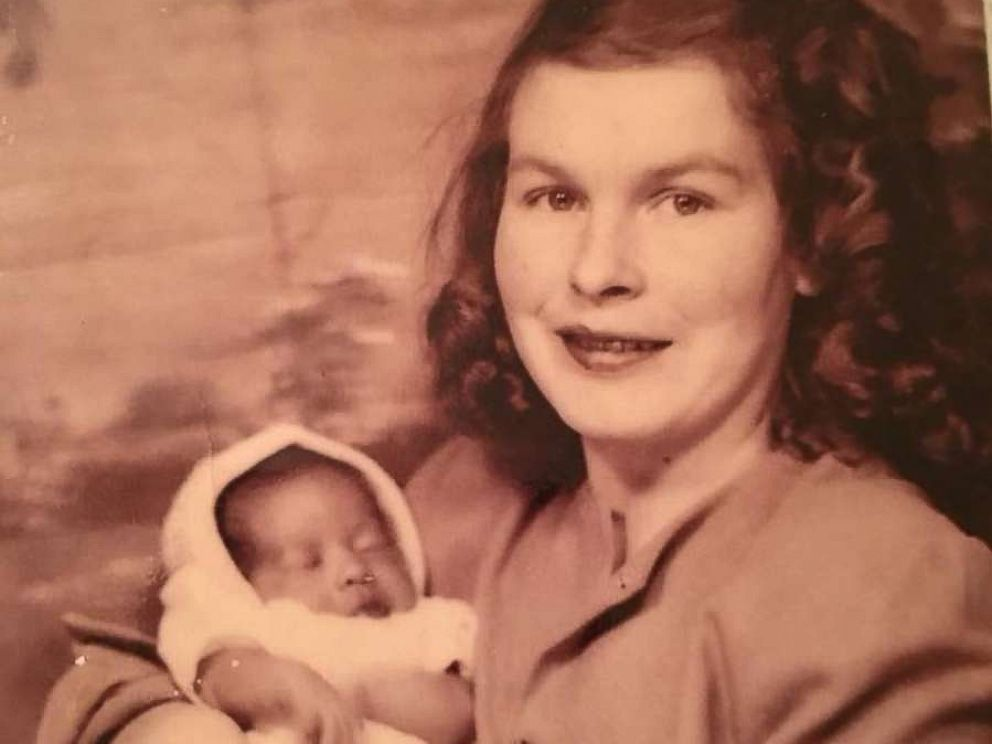 PHOTO: Sylvia Cathleen Faison, known to her birth family as Dorothy Mae Goode, seen with her birth mother, Leona Holmes Duff Goode Lambert.