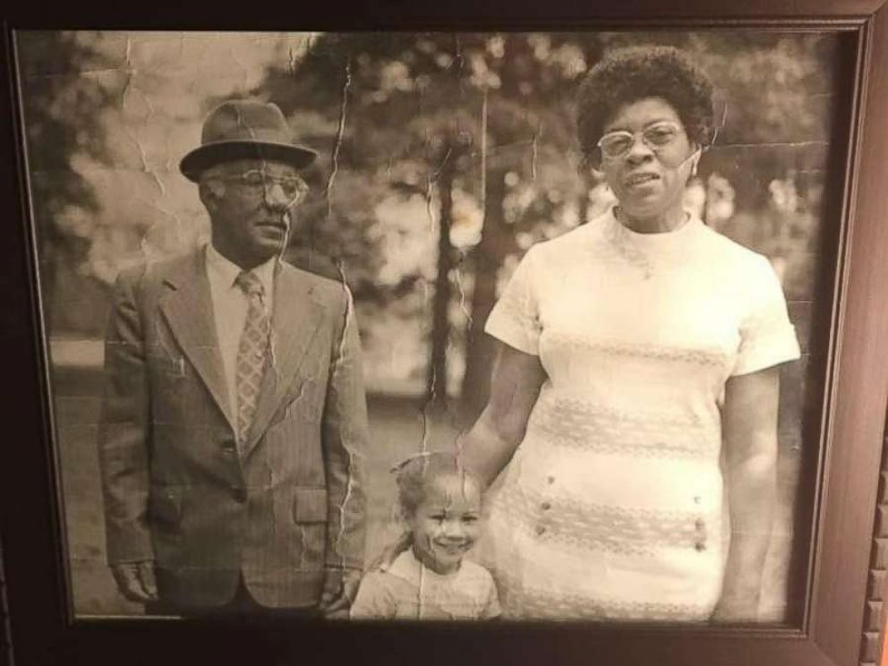 PHOTO: A photo of Sylvia Faison Graves Kewers daughter Natalie Graves Tucker with her moms adoptive parents, Parker and Sophia Faison.