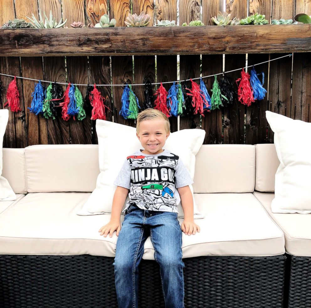 PHOTO: Allie Casazzas son Hudson is pictured at his sixth birthday party.