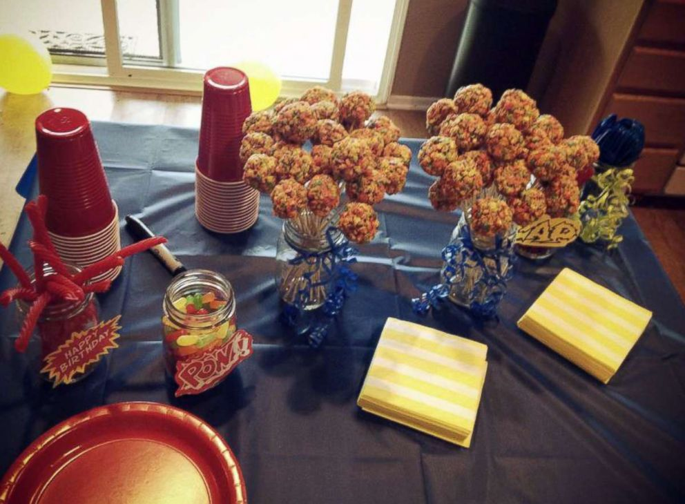 PHOTO: Allie Casazza and her husband threw an elaborate superhero-themed party for their oldest sons first birthday.
