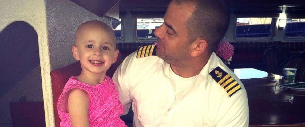 PHOTO:Dave Sylvaria with his 6-year-old daughter Riley, who has alopecia.