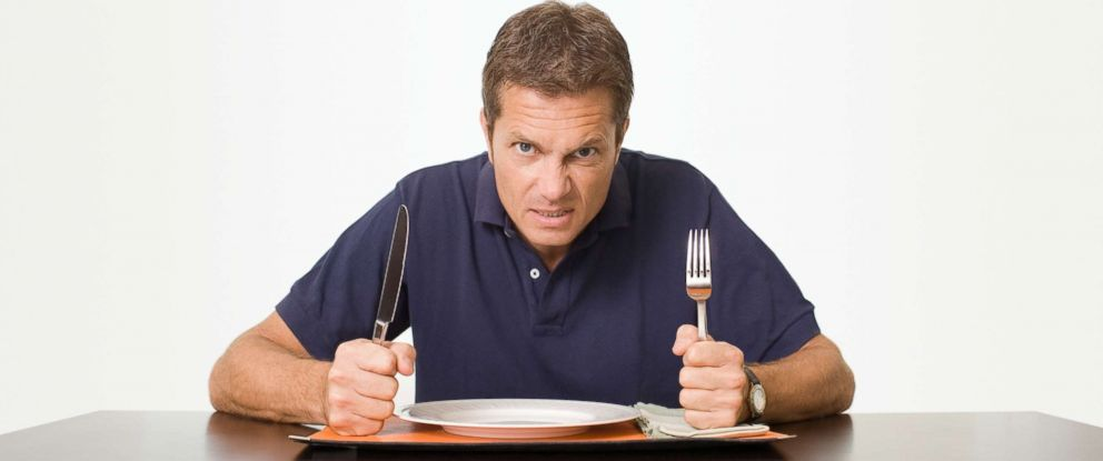 PHOTO: Stock photo of man eating.
