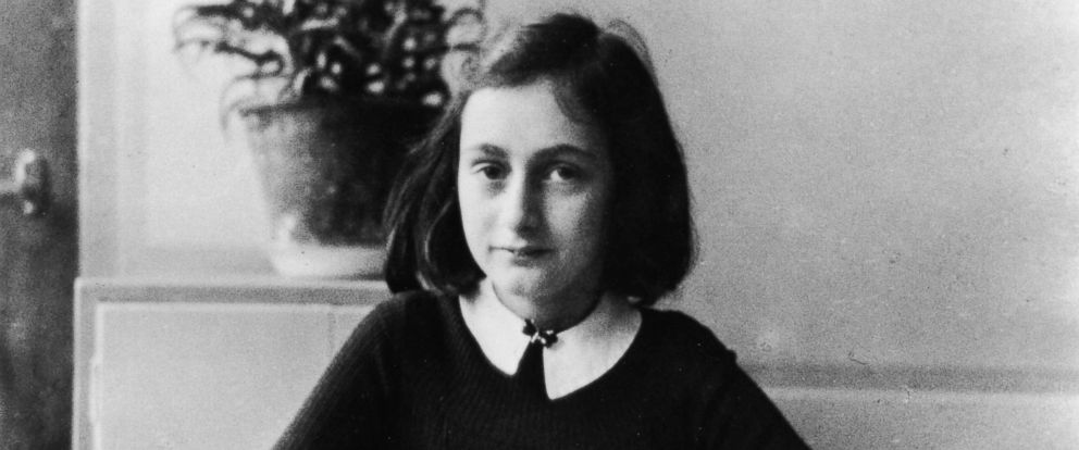 PHOTO: Anne Frank is pictured doing her homework, circa 1941. She died in the Bergen-Belsen concentration camp in 1945.