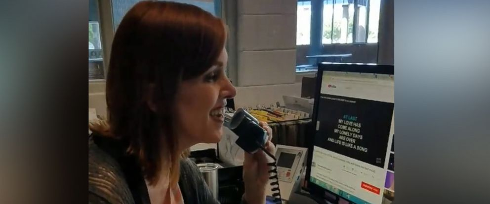 "PHOTO: Regina Ballard of North Lincoln High School in Lincolnton, North Carolina, performed the ballad ""At Last"" by Etta James over the loud speaker to say farewell to the school year and welcome summer vacation."