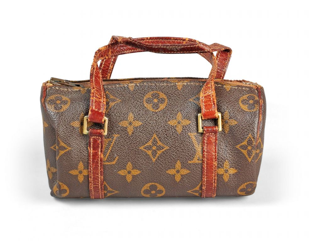 PHOTO: Up for auction is Audrey Hepburns Louis Vuitton mini papillion makeup bag.
