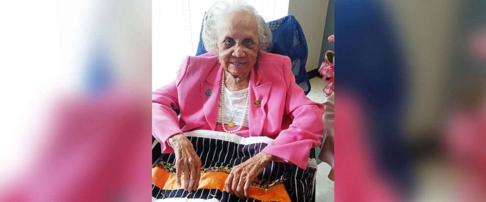 PHOTO: Birthday girl Avicia Thorpe celebrated her 110th birthday on April 16, 2018 in Danville, Va.