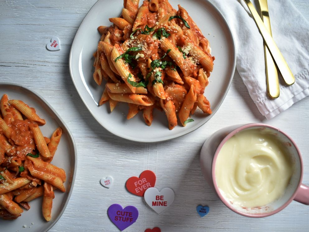 PHOTO: Ayesha Currys Valentines Day menu includes a dish of Penne alla Vodka with shrimp.