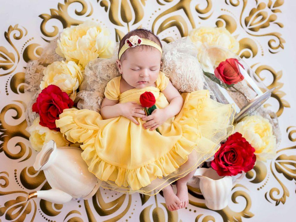 tiniest disney princesses take the crown in newborn photo shoot