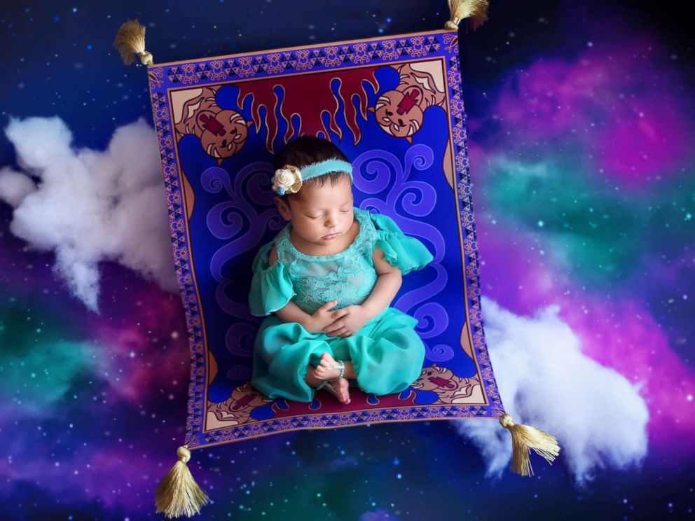 PHOTO: A photographer turned newborn babies into Disney princesses for a magical photo shoot.