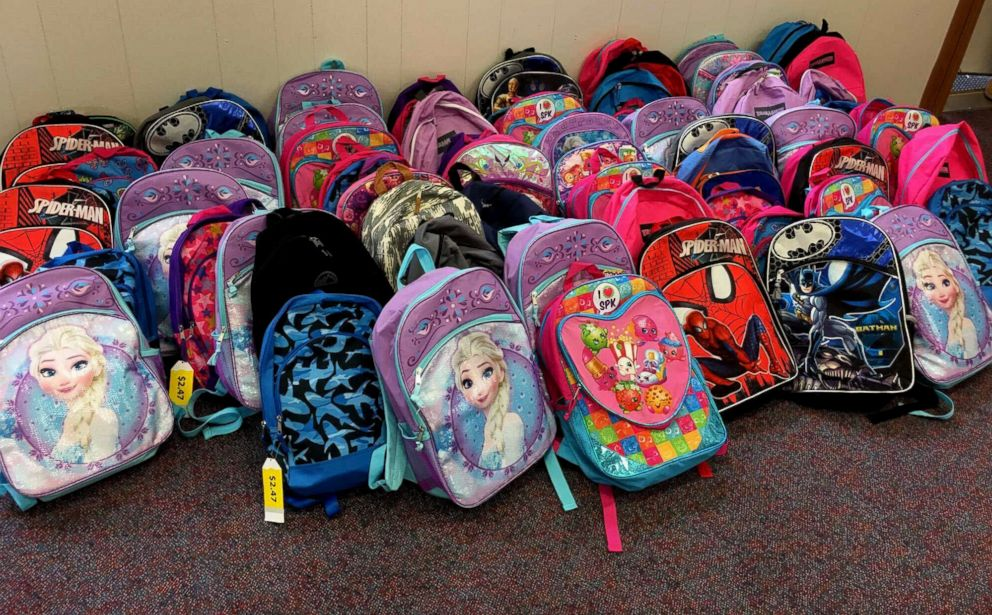 PHOTO:Destiny Klimaszewski of Foristell, Mo., started a school supplies drive in honor of her late son Parker Mantia and late husband, Corey Mantia.