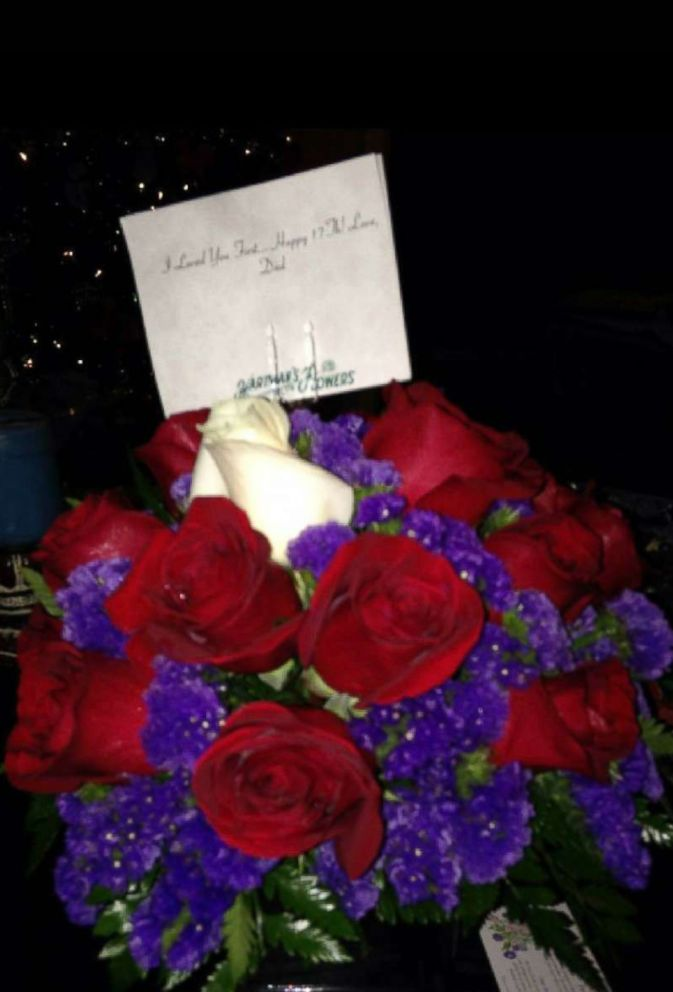 PHOTO: The flowers Bailey Sellers received from her deceased father Michael on her 17th birthday on Nov. 26, 2013.