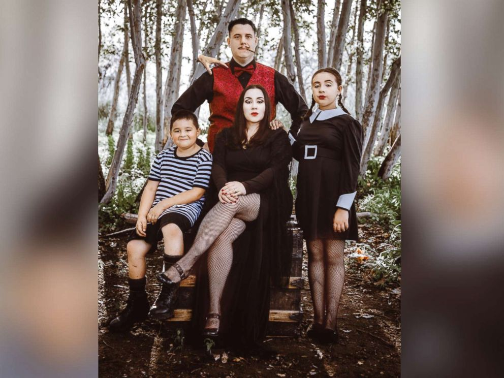 photo the basteens of tucson arizona pose for an epic addams family