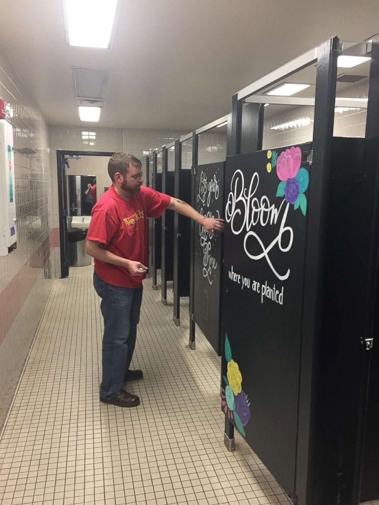 Parents Brighten Up Elementary School S Bathrooms To