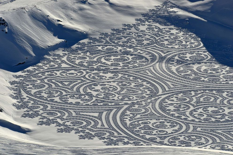 Image result for simon beck snow art