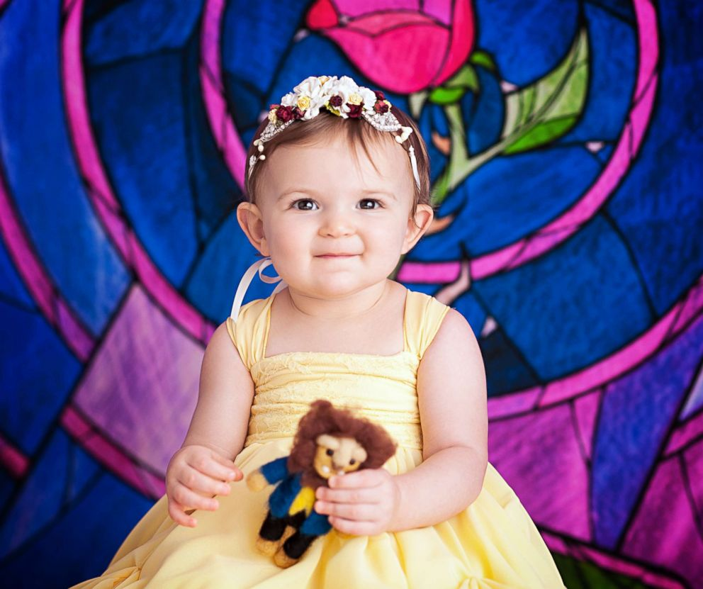 fa7e87ebe3eaa PHOTO: These babies who were photographed as newborn Disney princesses have  reunited for a first