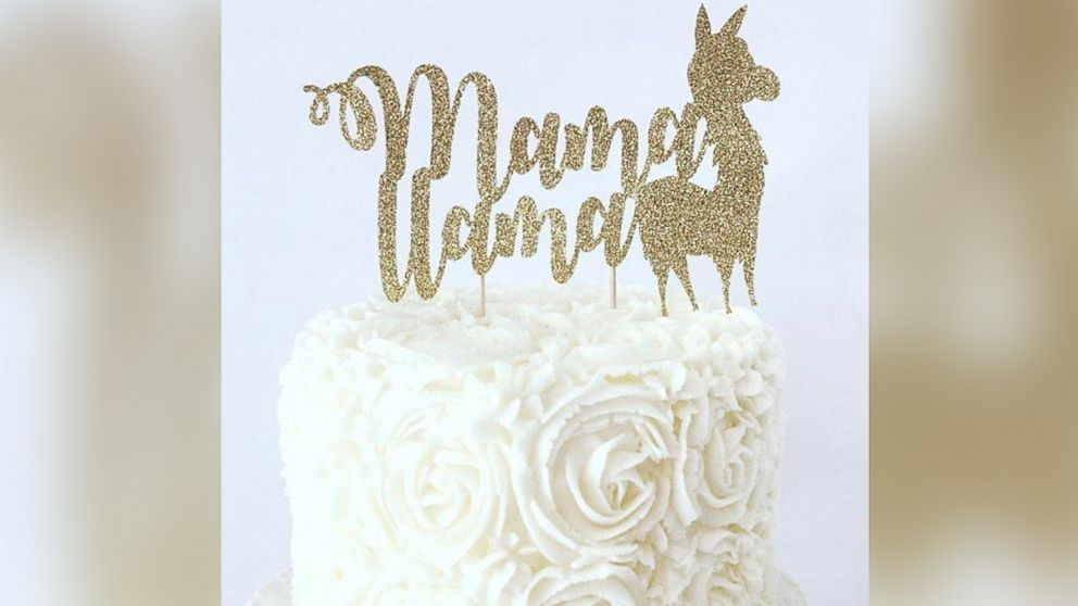 This llama cake topper is listed on Etsy.com and sold by the shop, BellsNBerries.