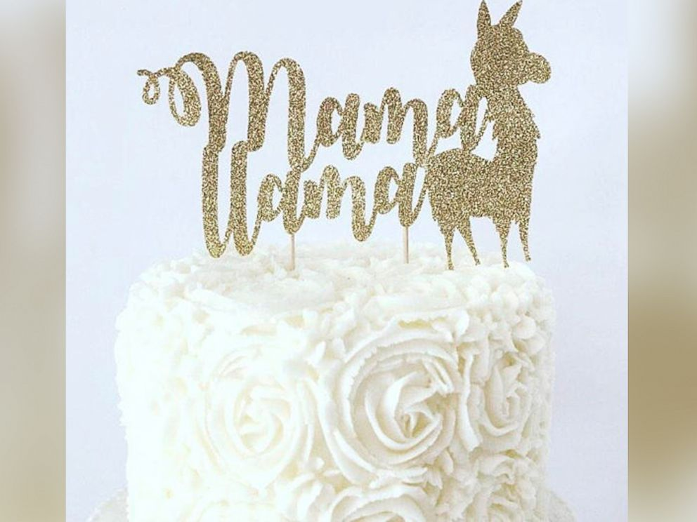 PHOTO: This llama cake topper is listed on Etsy.com and sold by the shop, BellsNBerries.