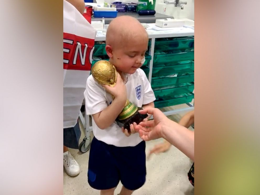 PHOTO: Ben Williams, 5, finished six weeks of radiation when staff at the Queen Elizabeth Hospital Birmingham presented him with the trophy.