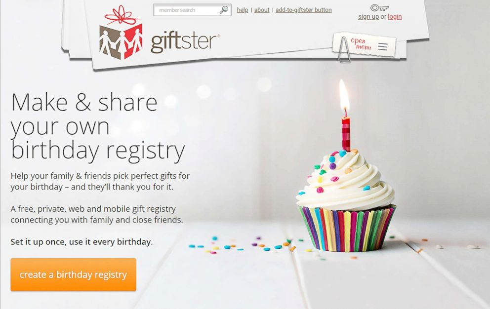 PHOTO Gifster Allows Users To Create Birthday Gift Registries