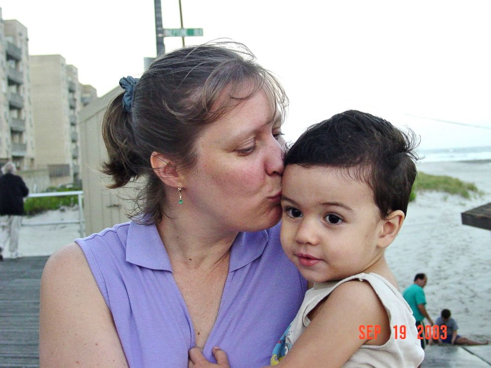 PHOTO:Patti Bosques with her son, Sam.