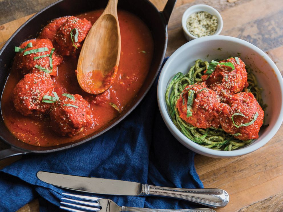 PHOTO: Body Love author Kelly LeVeque shares her recipe for Paleo meatballs with zucchini noodles.