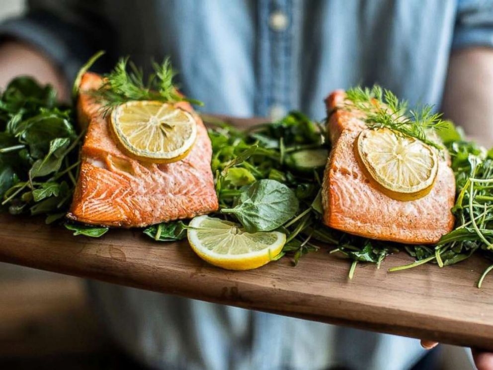 PHOTO: Nutritionist-to-the stars Kelly LeVeque shares her dill salmon recipe from her book, Body Love.