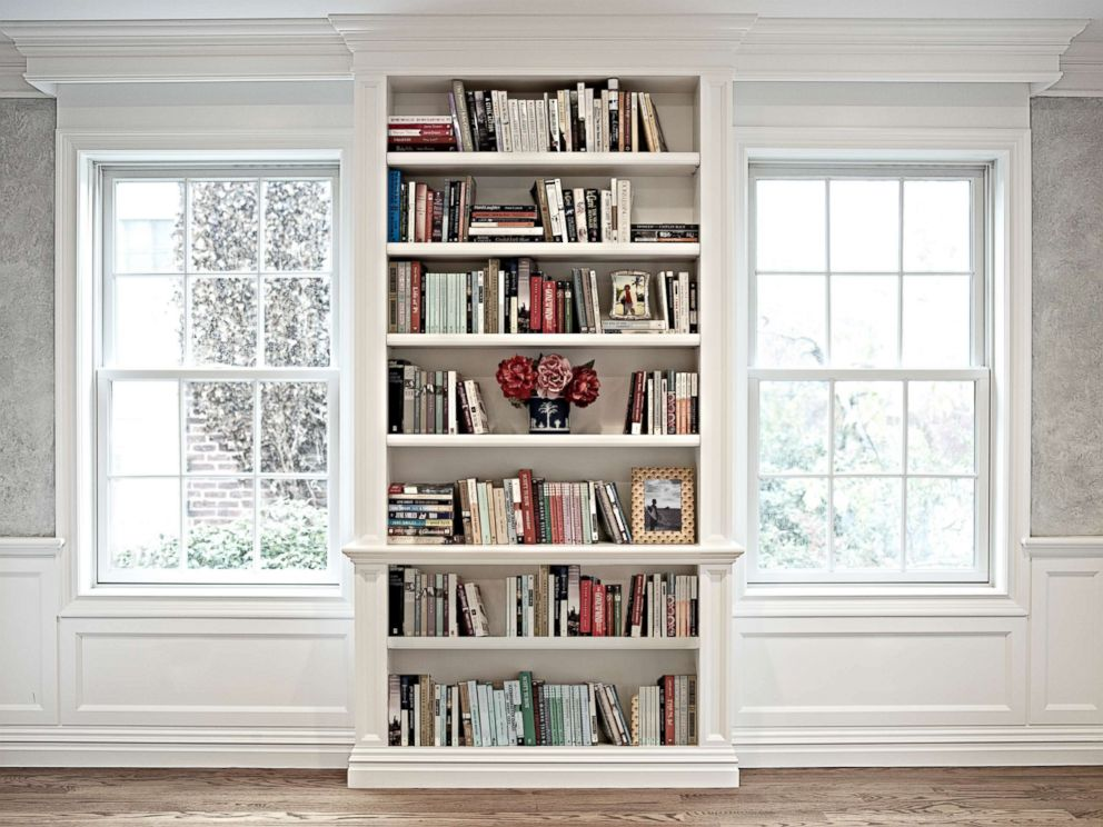 PHOTO: In this undated stock photo, a bookcase is filled with books in a home.