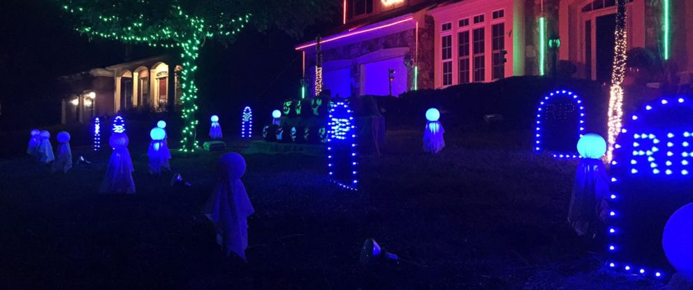Homeowner creates amazing Halloween light show synced with 'Feel ...