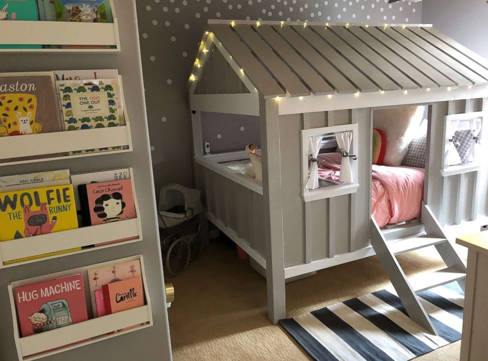 PHOTO: Brittany Herreras 3-year-old daughter Isabellas cabin bed was built by her own husband.