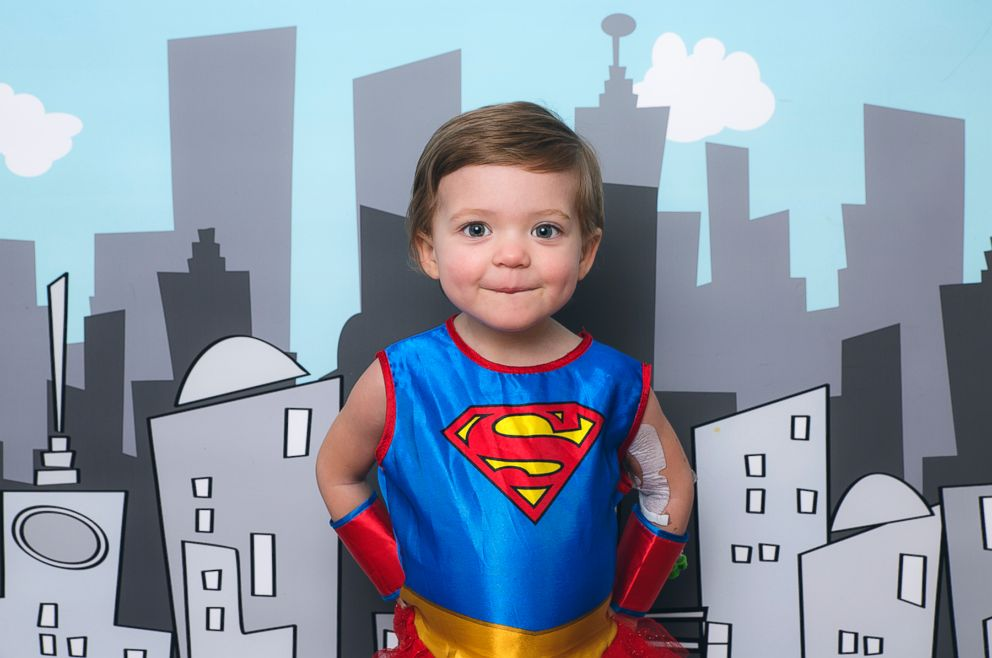 PHOTO: Emerson Lucier, 2, who has leukemia, dressed as Supergirl.