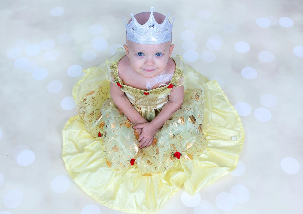 PHOTO: Emerson Lucier, 2, who has leukemia, also dressed as Princess Belle during her photo shoot session.