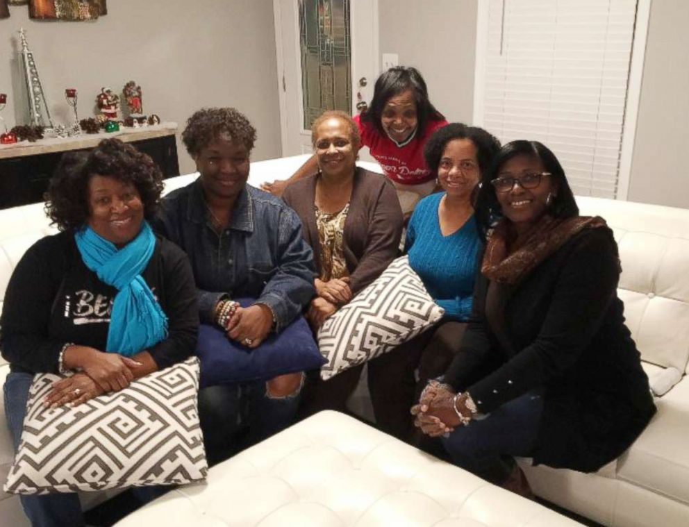 PHOTO: Daphne Thompson, Della Jackson, Lisa Alexander, LaTangie Ingram, Sharon Robinson and the late Denise Williamson at Christmas 2017.