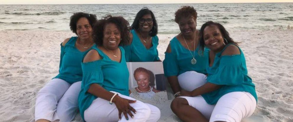 PHOTO: Daphne Thompson, Della Jackson, Lisa Alexander, LaTangie Ingram, and Sharon Robinson remember their late friend Denise Williamson on June 4, 2018 in Seacrest, Fla.