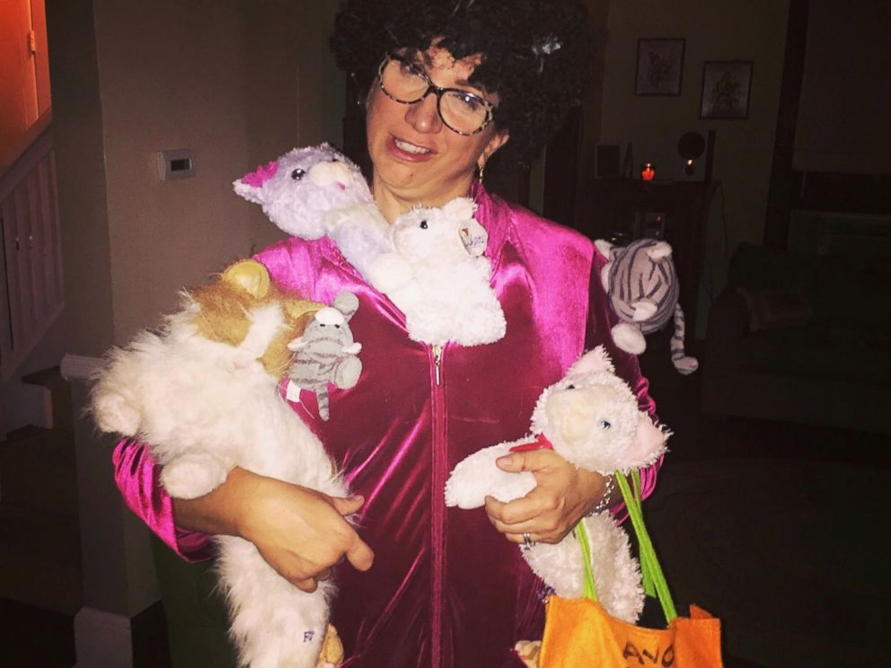 photo carey reilly dressed as a cat lady