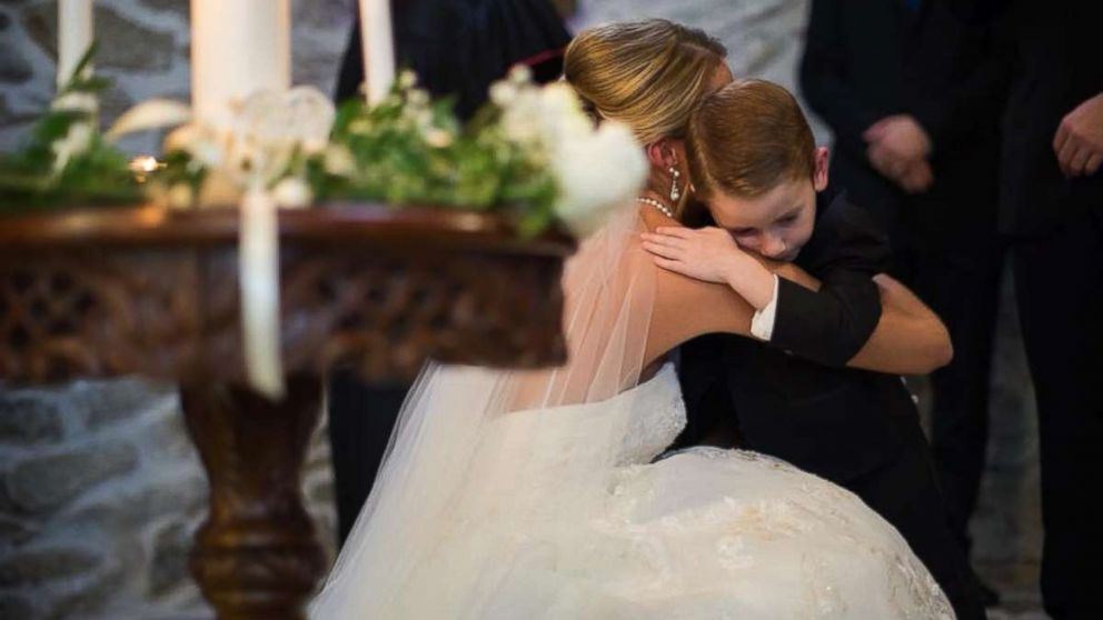On September 23, Katie Musser mentioned her stepson Landon, 4, and his mother, Casey Bender, in her vows to emphasize that they're one big family on the day she married Landon's father, Jeremy Musser.