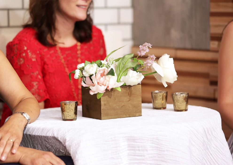 PHOTO: Use a wooden box as a modern vessel for floral.