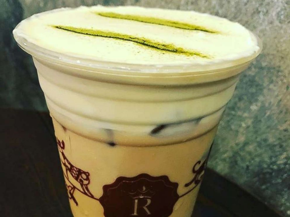 PHOTO: Cheese tea, like this version served in Penang, Malaysia, is a popular cold tea beverage topped with a tangy and creamy whipped cheese foam.