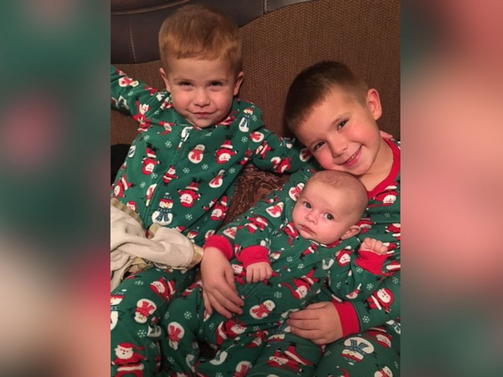PHOTO:Rachel Nicholsons three sons received Christmas presents through the Holidays for Harvey program.