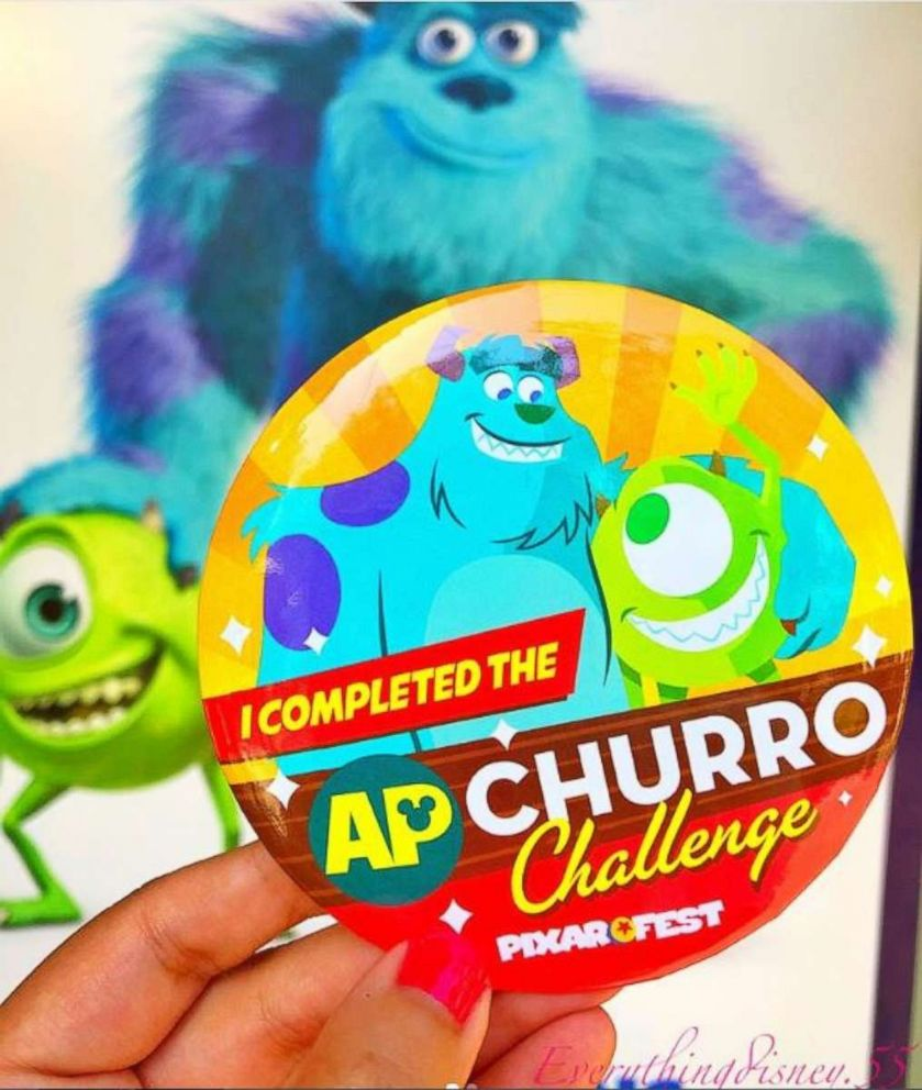 PHOTO: The churro challenge pin that participants receive upon completion of the map.