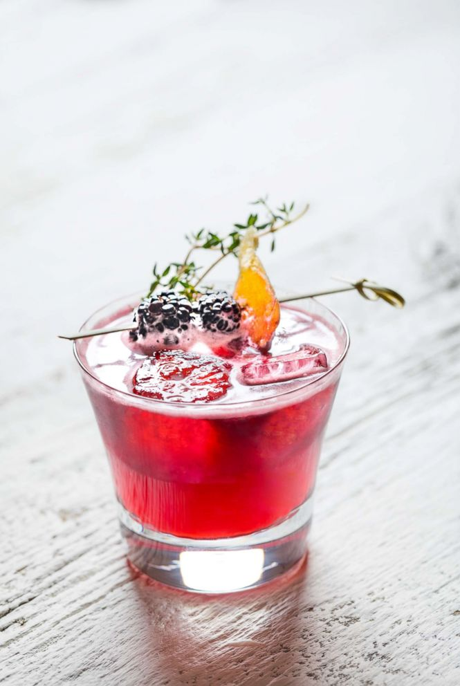 PHOTO: A Cinco de Mayo cocktail, the Blackberry Ginger Margarita with candied ginger and thyme garnish.